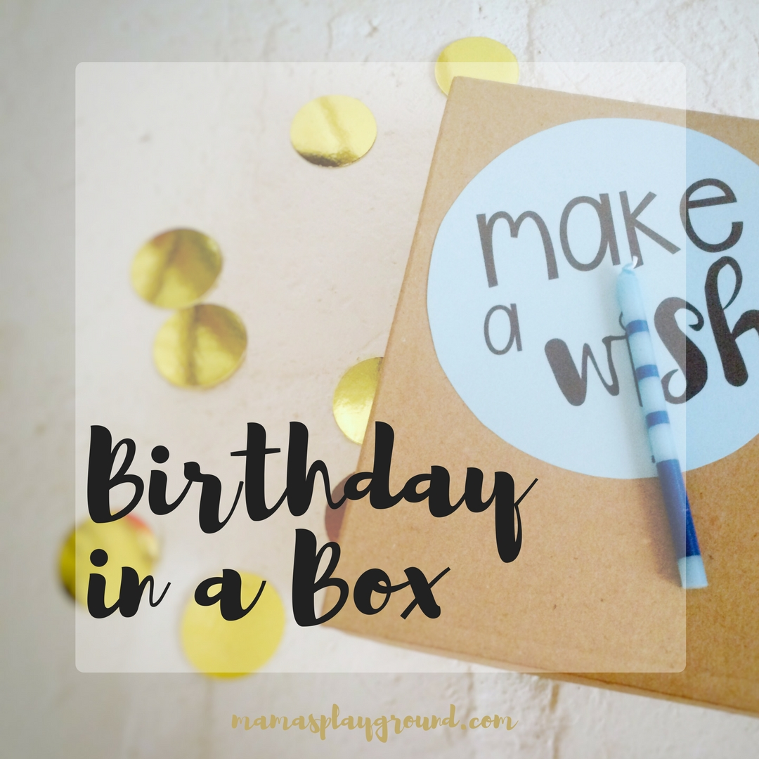 This Birthday in a Box is a fun little surprise with all the birthday fix in's.
