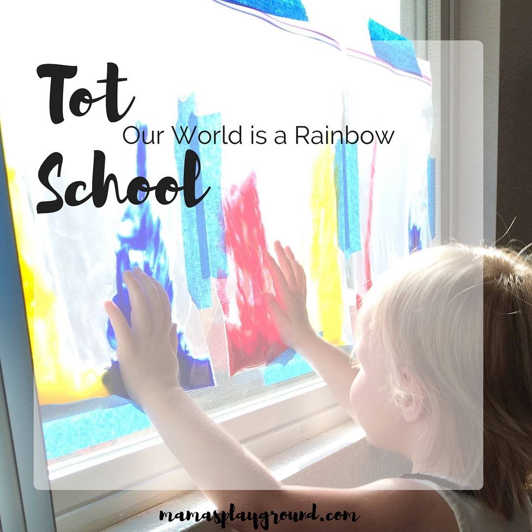A playful color tot school from Mama's Playground.
